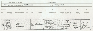 Alfred Burnett Emptage Death Certificate cropped