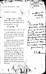 1915 Charles Frederick Emptage. A letter sent to his Commander from his stepfather Ernest Deamer