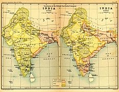 EAST India Company territories in India 1765 and 1805b