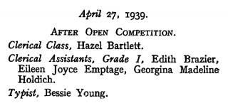 London Gazette Eileen, clerical asisistant, grade 1 copy.jpg
