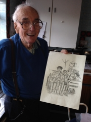 Frank Sidney Smith and his sketch of My best mate