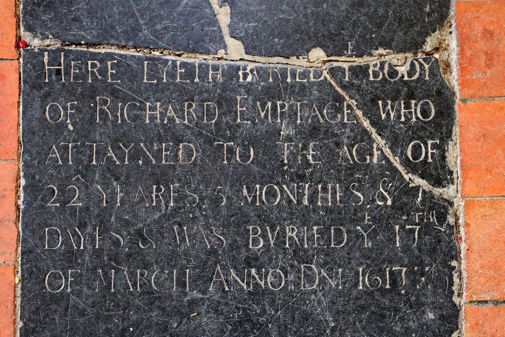 St N at Wade Richard Emptage b 17th Mar 1617