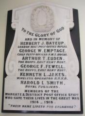 Royal Mail Margate WWI Memorial