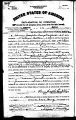 Henry Joseph Emptage naturalisation