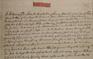 Will of Humphrey Emptage Maltster Deal 1737 cropped