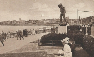 Margate statue sepia cropped