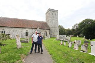Andrew & Tim at Monkton Church