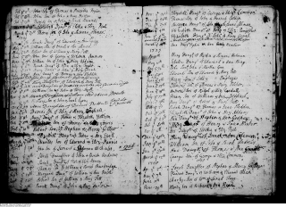 Henry Emptage and Ann Peel baptisms 1737 at St Nicholas