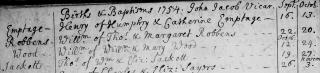 Henry Emptage baptism 1754 cropped