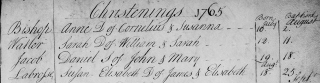 Susan Elizabeth LaBrosse baptism 1765 cropped
